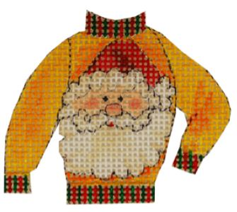 click here to view larger image of Santa Ugly Sweater (hand painted canvases)