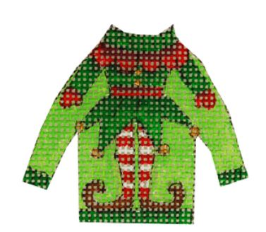 click here to view larger image of Elf Suit Ugly Sweater (hand painted canvases)