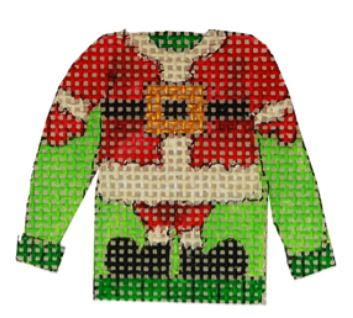 click here to view larger image of Santa Suit Ugly Sweater (hand painted canvases)