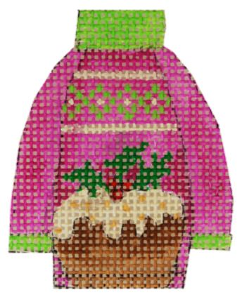 click here to view larger image of Plum Pudding Ugly Sweater (hand painted canvases)