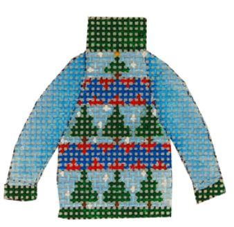 click here to view larger image of Pine Tree Ugly Sweater (hand painted canvases)