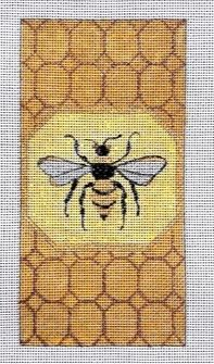click here to view larger image of Bee Eyeglass Case (hand painted canvases)