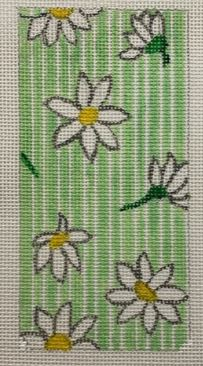 click here to view larger image of Daisies Eyeglass Case (hand painted canvases)