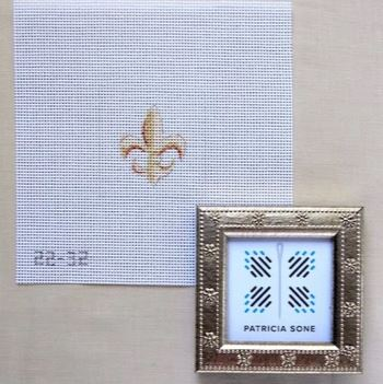 click here to view larger image of Fleur de Lis w/Frame (hand painted canvases)