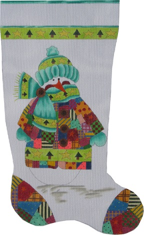 Original Patchwork Snowman Stocking - click here for more details
