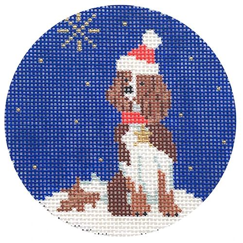 Midnight Springer Spaniel Round - click here for more details