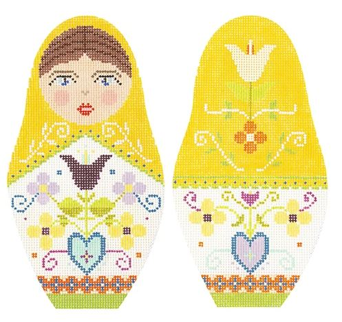 click here to view larger image of Folk Russian Dolls - Extra Large (hand painted canvases)