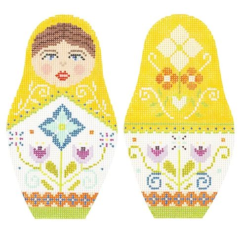 click here to view larger image of Folk Russian Dolls - Large (hand painted canvases)