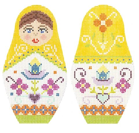 click here to view larger image of Folk Russian Dolls - Medium (hand painted canvases)