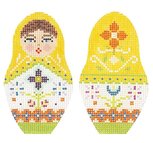 click here to view larger image of Folk Russian Dolls - Small (hand painted canvases)
