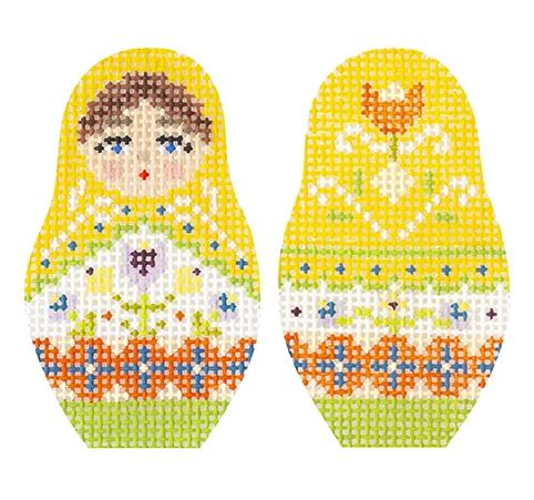 click here to view larger image of Folk Russian Dolls - Extra Small (hand painted canvases)