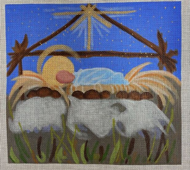 click here to view larger image of Manger Sheep (hand painted canvases)