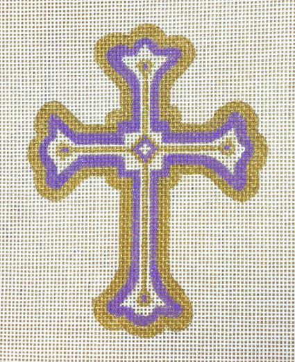 click here to view larger image of Cross Purple (hand painted canvases)