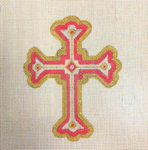 click here to view larger image of Cross Pink (hand painted canvases)