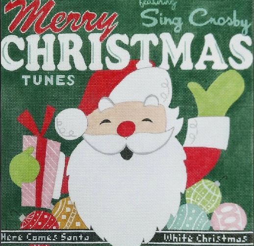 click here to view larger image of Album Cover - White Christmas (hand painted canvases)