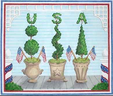 click here to view larger image of American Front Porch - Summer (hand painted canvases 2)