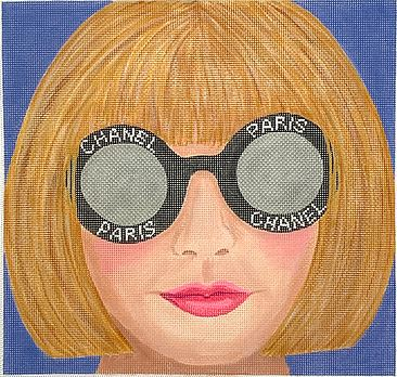 click here to view larger image of Glamour Gal Anna w/Chanel Dark Glasses (hand painted canvases 2)