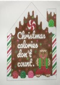 click here to view larger image of Christmas Calories don't Count  (hand painted canvases)