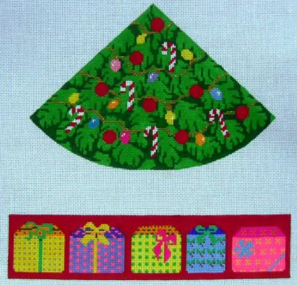click here to view larger image of Christmas Tree (round) Hinged Box (hand painted canvases)