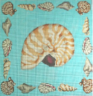 click here to view larger image of Beige Nautilus Shell (hand painted canvases)