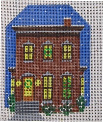 click here to view larger image of Brown Victorian House (hand painted canvases)