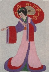 click here to view larger image of Geisha w/Umbrella (hand painted canvases)