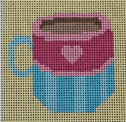 click here to view larger image of Blue Teacup (hand painted canvases)