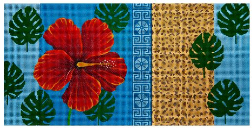 click here to view larger image of Hibiscus and Cheetah (hand painted canvases)