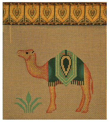 click here to view larger image of Camel Handbag/Purse (hand painted canvases)