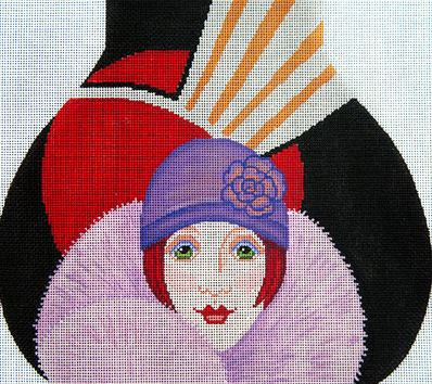 click here to view larger image of Flapper Moonstruck Bag (hand painted canvases)