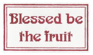 click here to view larger image of Blessed be the Fruit (hand painted canvases)