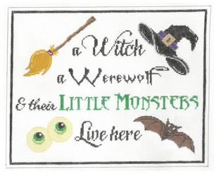 click here to view larger image of A Witch  A Werewolf and .... (hand painted canvases)