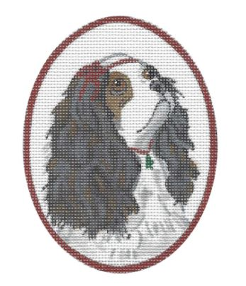 click here to view larger image of Cavalier King Charles w/Tree Necklace  (hand painted canvases)