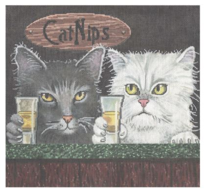 click here to view larger image of Cat Nips (hand painted canvases)