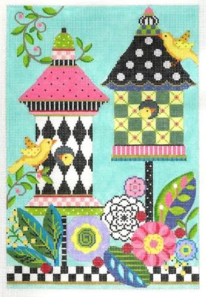 click here to view larger image of Celebration Birdhouse Stitch Guide (accessories)