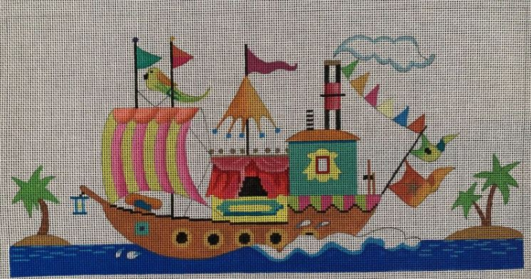 click here to view larger image of Circus Boat (hand painted canvases)