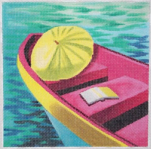 click here to view larger image of Umbrella Boat (hand painted canvases)