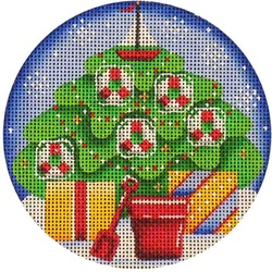 click here to view larger image of August Ornament (hand painted canvases)
