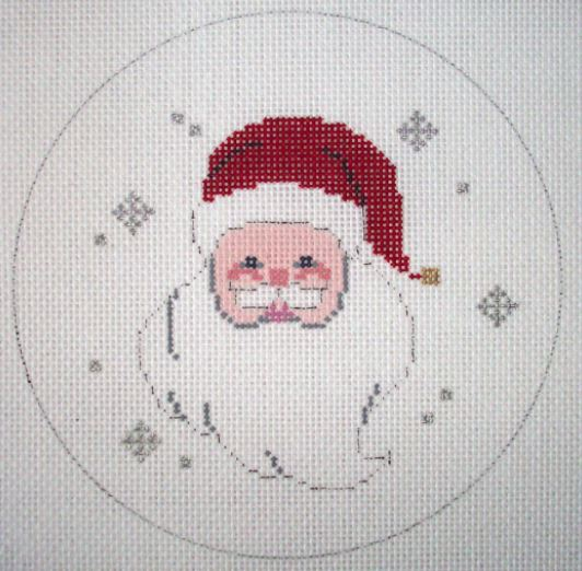 click here to view larger image of Santa Face in Circle (hand painted canvases)