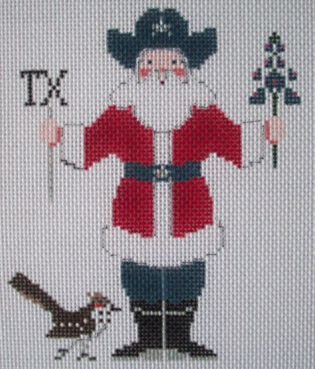 click here to view larger image of Texas Santa (hand painted canvases)