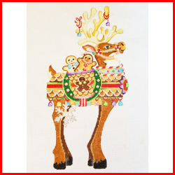 click here to view larger image of Reindeer - RR-05 (hand painted canvases)