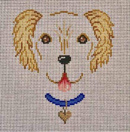 click here to view larger image of Dog Face - Golden Retriever (hand painted canvases)