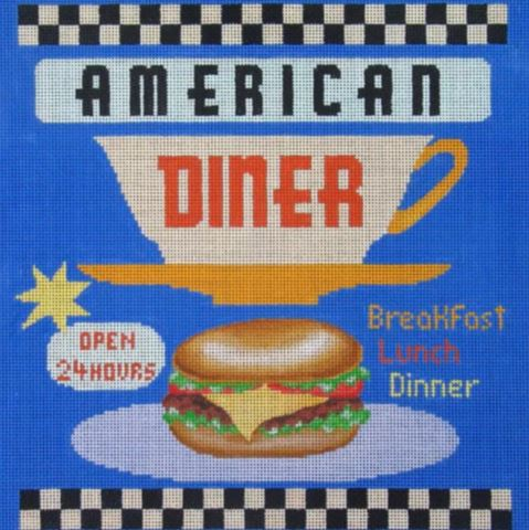 click here to view larger image of American Diner (hand painted canvases)