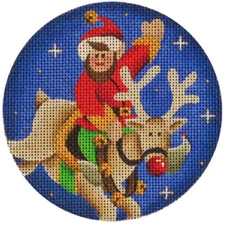 click here to view larger image of Rudolph and Elf (hand painted canvases)