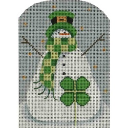 click here to view larger image of Clover Snowman (hand painted canvases)