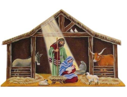 click here to view larger image of Nativity Manger (hand painted canvases)
