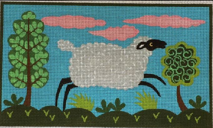 click here to view larger image of Sheeps Meadow (hand painted canvases)