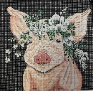 click here to view larger image of Poppy the Pig (hand painted canvases)