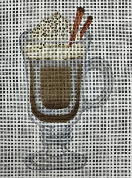 click here to view larger image of Hot Chocolate - Fancy Glass Mug (hand painted canvases)