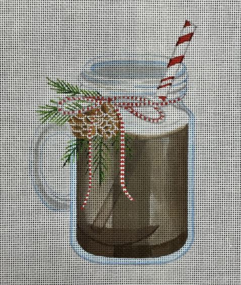 click here to view larger image of Hot Chocolate - Mason Jar (hand painted canvases)